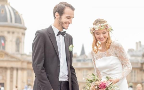 mariage bohème chic à Paris shooting inspiration Anaïs Roguiez ademoiselle Cereza Laure B Gady
