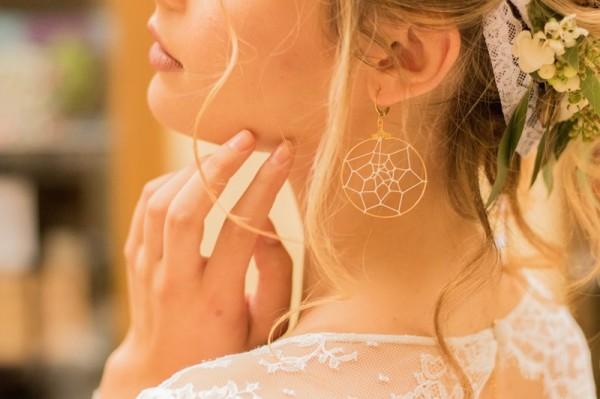 bijoux mariage bohème chic Mademoiselle Cereza boucles oreille fines