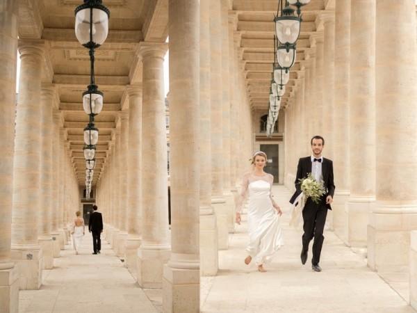 mariage bohème chic à Paris shooting inspiration
