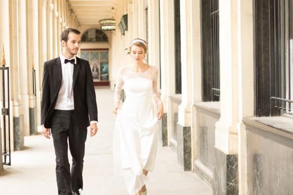mariage bohème chic à Paris robe dos nu dentelle créateur Laure B Gady bijoux créatrice made in France Mademoiselle Cereza photo Anaïs Roguiez