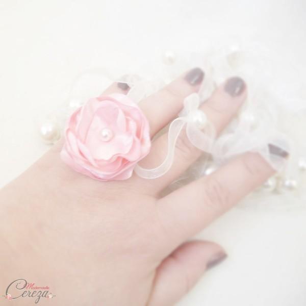 cadeau témoin de mariage rose bijou fleur personnalisable