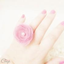 cadeau témoin de mariage idée originale bijou personnalisable rose organza