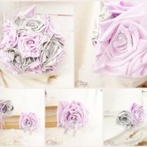 déco florale mariage original mauve gris blanc