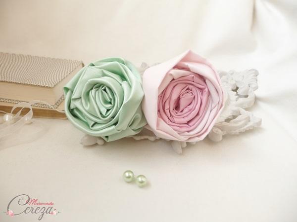 mariage rose poudré vert d'eau fleurs bouquet mariee original