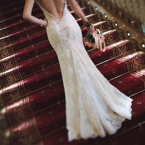 robe mariée dos nu dentelle