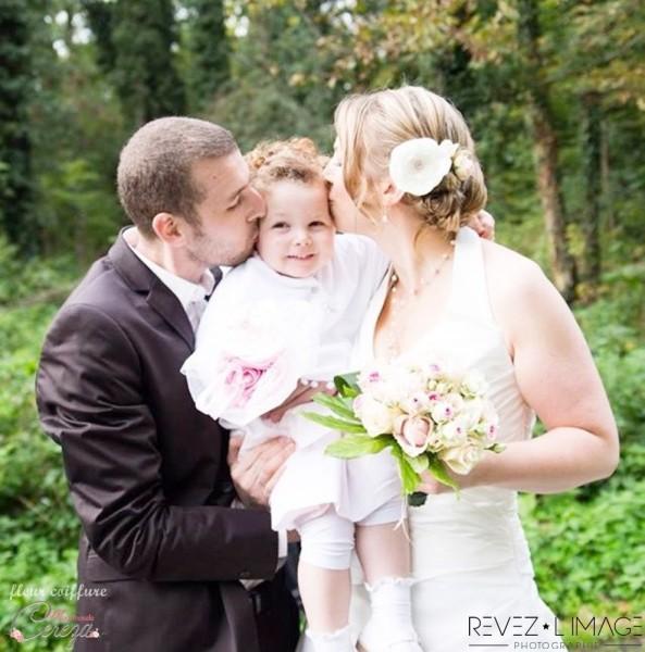 bijou coiffure mariée fleur pivoine personnalisable