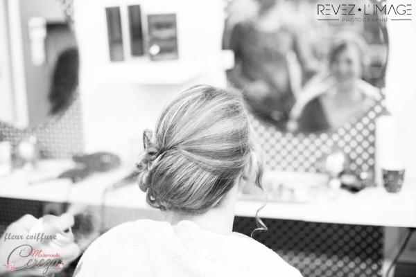idée coiffure mariée cheveux courts mi longs chignon bas