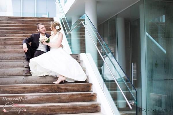 idée chignon mariage chic fleur