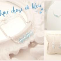 bijoux mariage cérémonie soirée bleu sobres simples