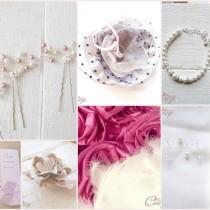 bijoux perles rose coiffure mariage chic