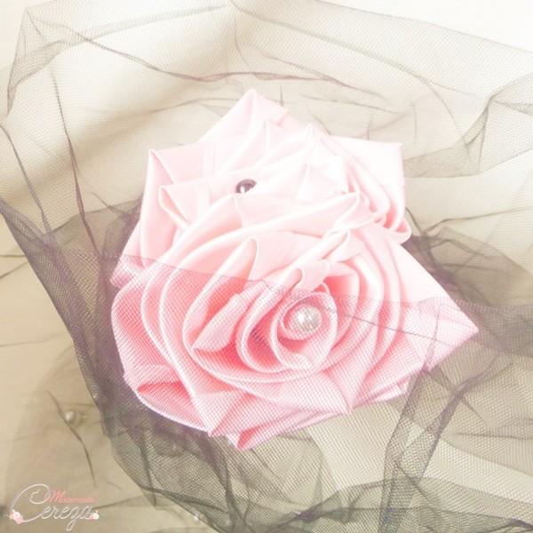 mariage rose gris noir bouquet mariée baroque romantique chic