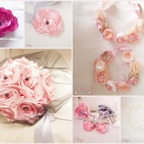 fleur rose pour coiffure de mariage