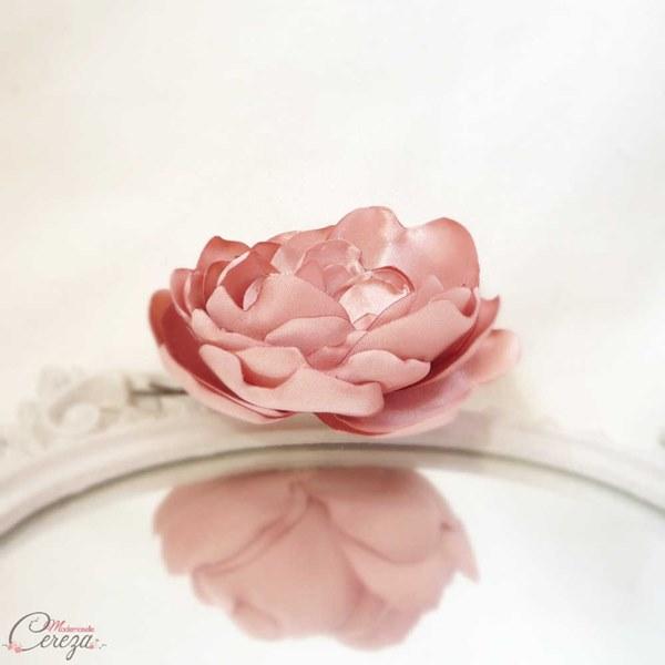 mariage vieux rose ivoire fleur coiffure boheme romantique chic