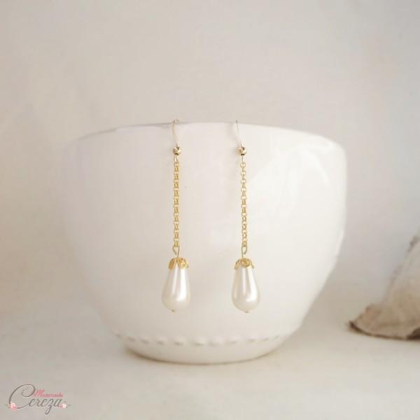 bijou mariage perles retro boucles oreille baroque originale personnalisables melle cereza deco