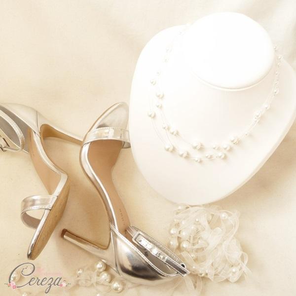 bijoux de mariage perles collier rétro romantique multi rangs mademoiselle cereza