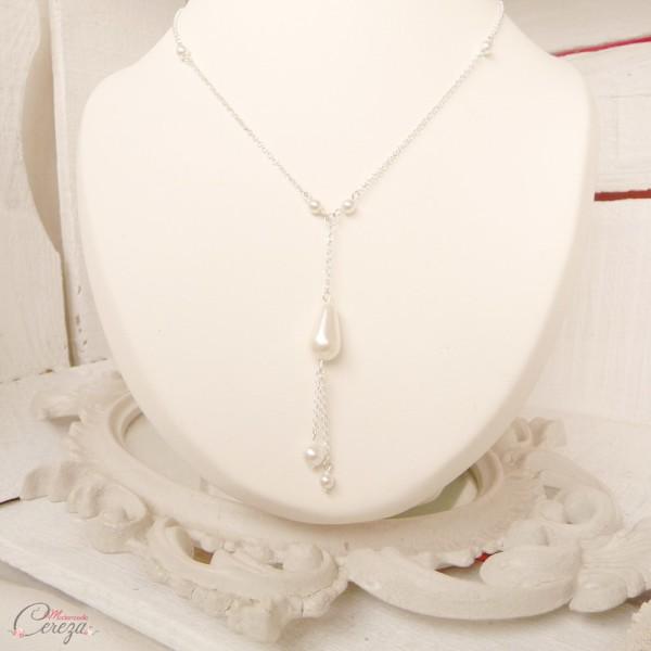 collier mariee perle goutte romantique original Beatriz Melle Cereza