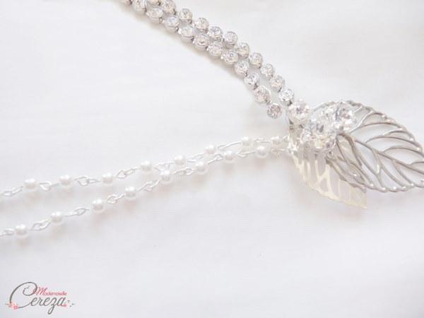 headband mariage bohème chic Mademoiselle Cereza perles ou strass de cristal
