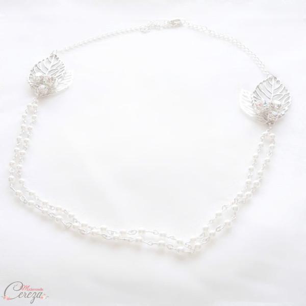 headband mariage bohème chic romantique double rang perles cristal Swarovski Gipsy Mademoiselle Cereza