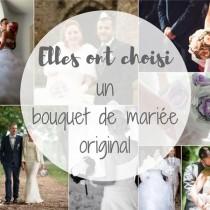 l'idée bouquet de mariée original en tissu