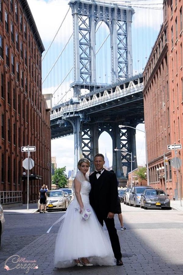 idée un bouquet de mariée original mariage chic satin strass cristal Melle Cereza