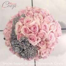 des broches pour un bouquet de mariée Mademoiselle Cereza