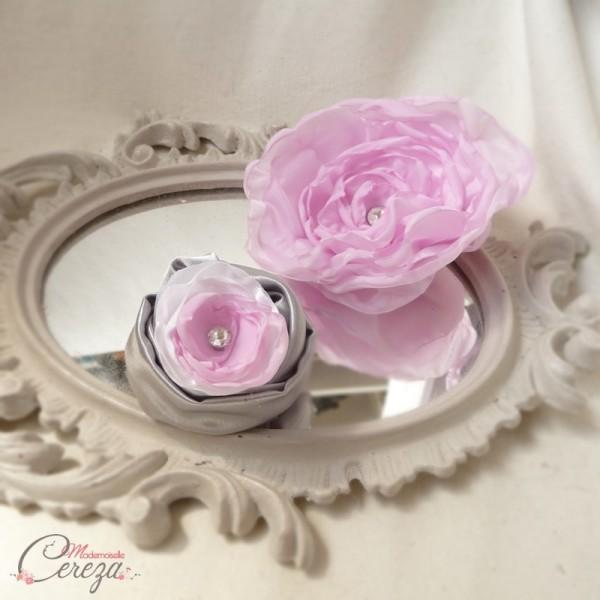 mariage retro chic à l'américaine détails broche fleur robe de mariee et boutonnière melle Cereza