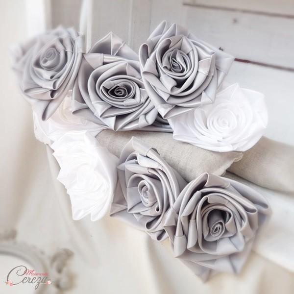 bouquet de mariée sur-mesure mariage gris blanc rose