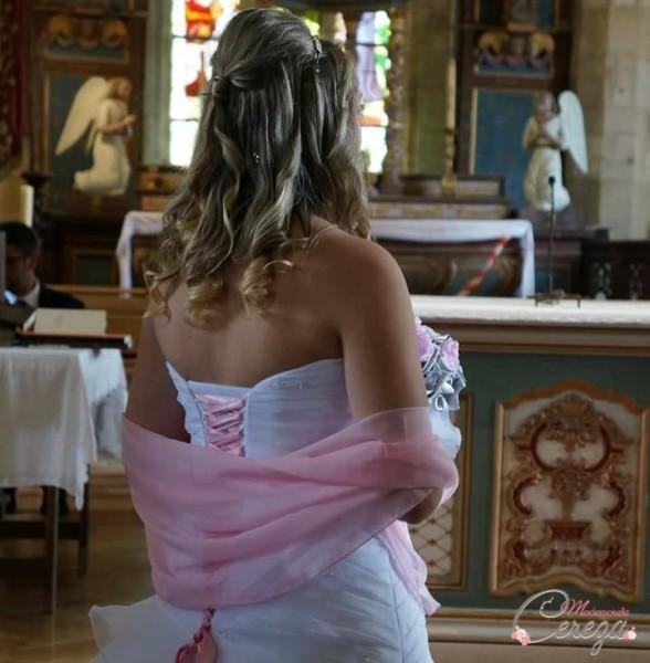 mariage rétro à l'américaine en bretagne pastel rose pâle