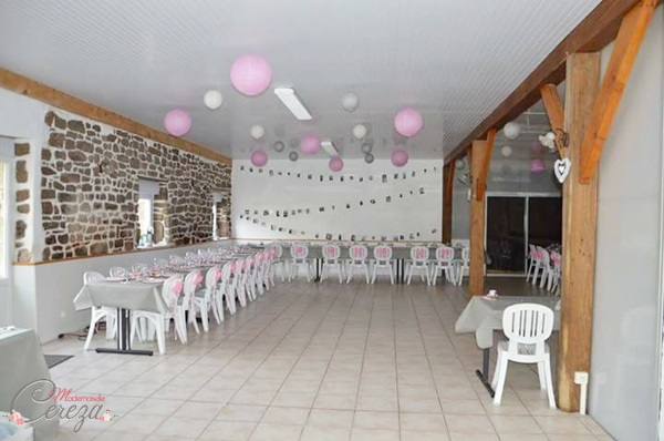 idée deco salle mariage rose gris blanc vintage champetre Mademoiselle Cereza blog