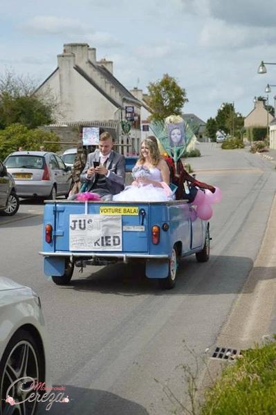 idées mariage vintage champêtre USA voiture façon jeep américaine