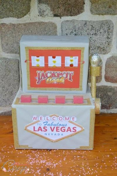 idée deco mariage vintage urne machine à sous las vegas Mademoiselle Cereza blog