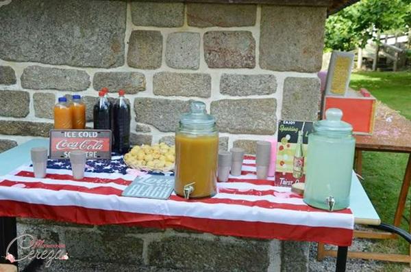 idée bar à boisson vintage champetre USA