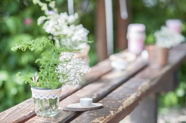 idee deco centre table mariage vegetal chapetre boheme pastel