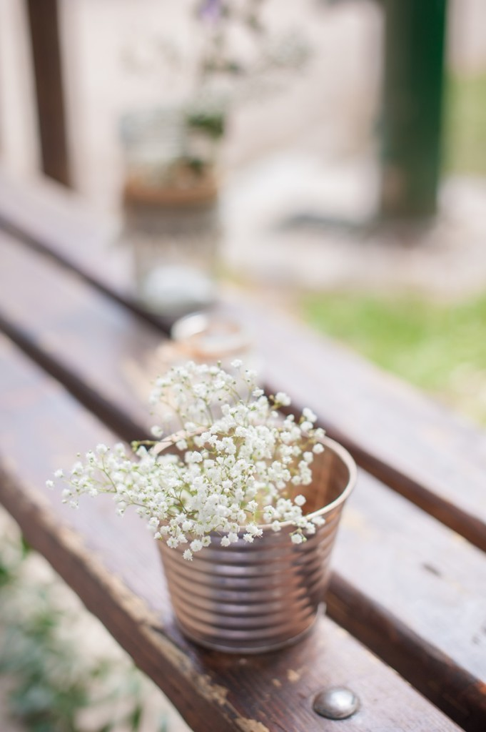 idee deco mariage champêtre bohème pastel vase home made Melle Cereza blog