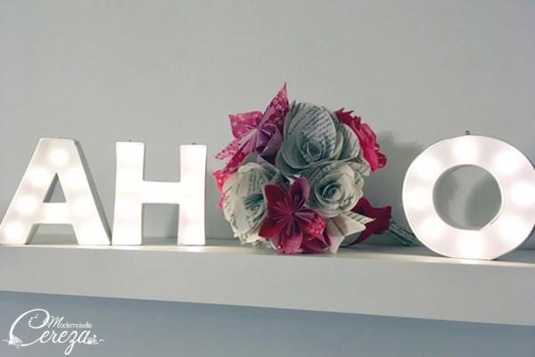 mariage intime non conventionnel bouquet de mariée original origami Melle Cereza