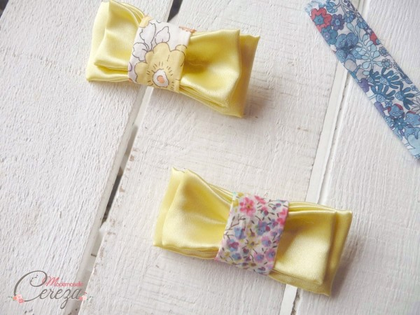mariage liberty jaune orangé rose accessoires Made in France Melle Cereza