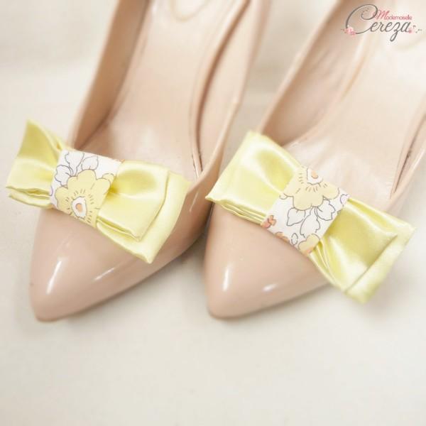 mariage jaune liberty bijoux de chaussures noeuds Mademoiselle Cereza