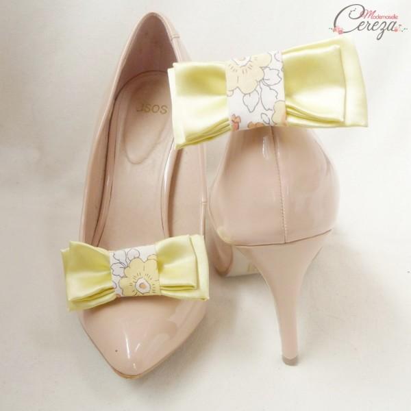 accessoire mariage liberty bijoux de chaussures noeuds Melle Cereza