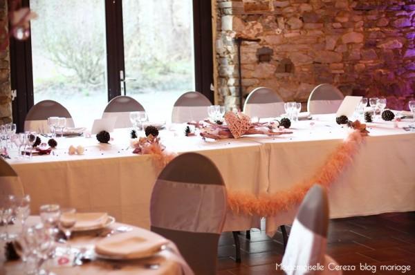 idee deco table des maries centre table bas mariage retro feerique Melle Cereza blog mariage