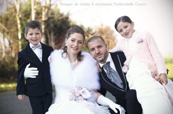 mariage retro chic feerique hiver rose gris blanc Melle Cereza blog mariage