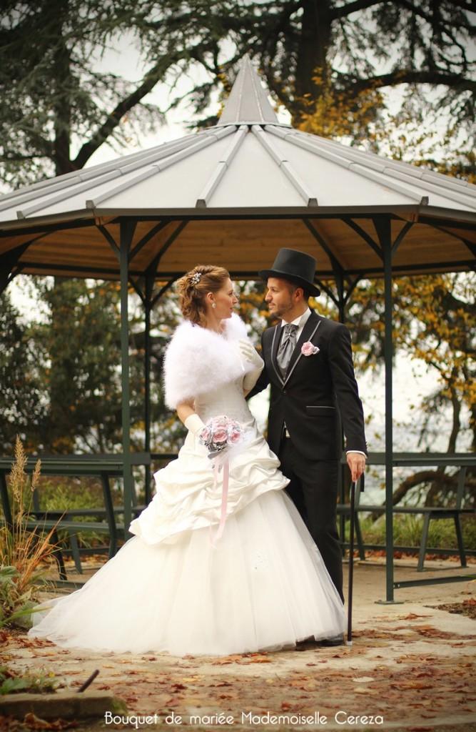 mariage retro chic romantique rose poudre gris blanc idee Melle Cereza blog mariage