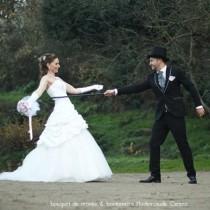 mariage vintage chic romantique rose poudré gris blanc Melle Cereza blog mariage