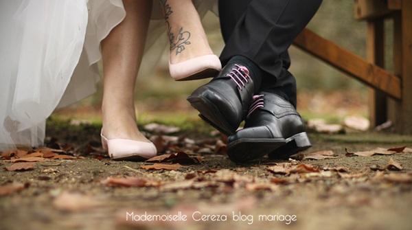 mariage retro chic romantique rose gris blanc idees chaussures Melle Cereza blog mariage
