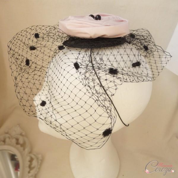 bibi mariage cérémonie voilette et fleur personnalisable Mademoiselle Cereza modèle Boudoir