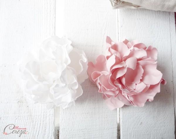mariage rose poudré blanc accessoire coiffure romantique Mademoiselle Cereza
