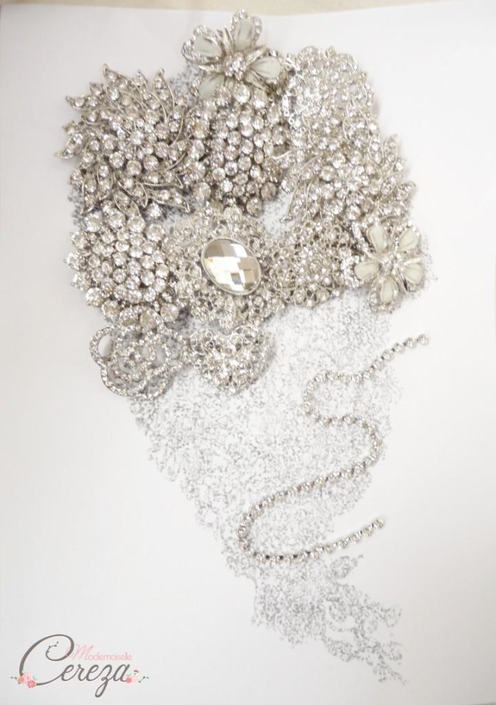 accessoire mariage chic bouquet broches bijoux précieux melle cereza