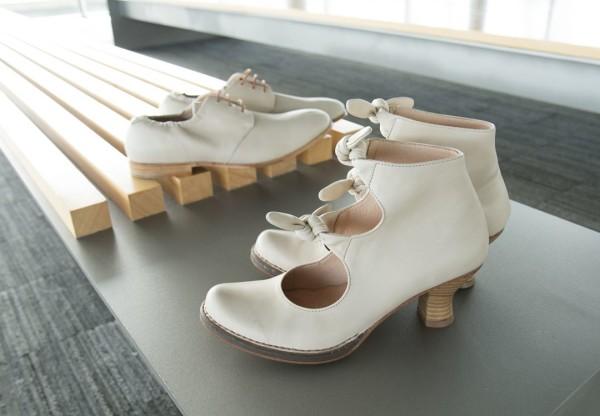 chaussures mariee original retro chic ivoire Mademoiselle Cereza blog mariage