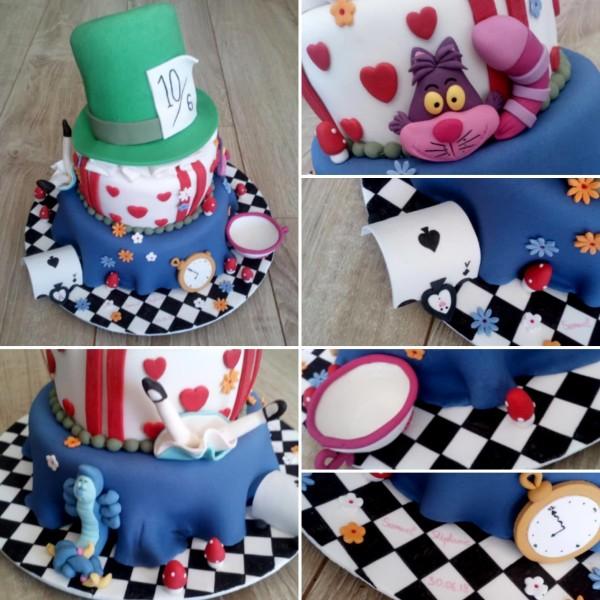 gâteaux de mariage à Orléans wedding cake Alice par Les Gâteaux de Laure X Melle Cereza blog mariage
