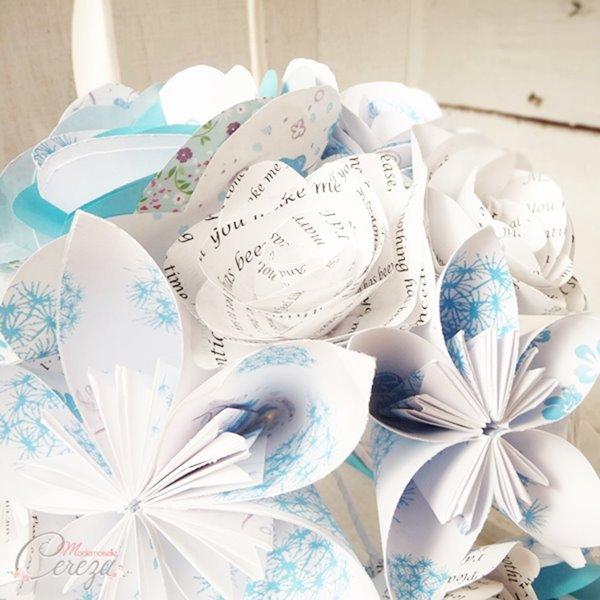 bouquet de mariée origami mariage original Melle Cereza