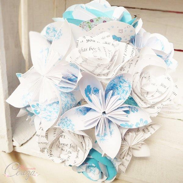 mariage origami bouquet de mariee personnalisable Melle Cereza